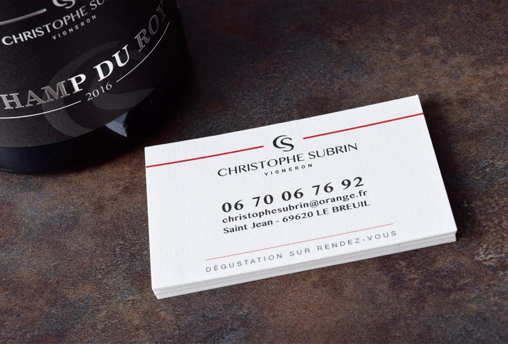 Carte de visite de Christophe Subrin