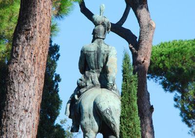 CourtinCom-photographie d'une statue-Jardin du Museo borghese